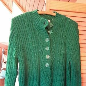 LIZ CLAIBORNE Warm Green Wool-Blend Sweater Size L